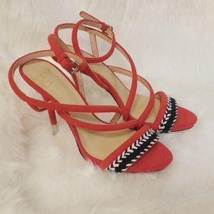 GX Gwen Stefani red strappy heel